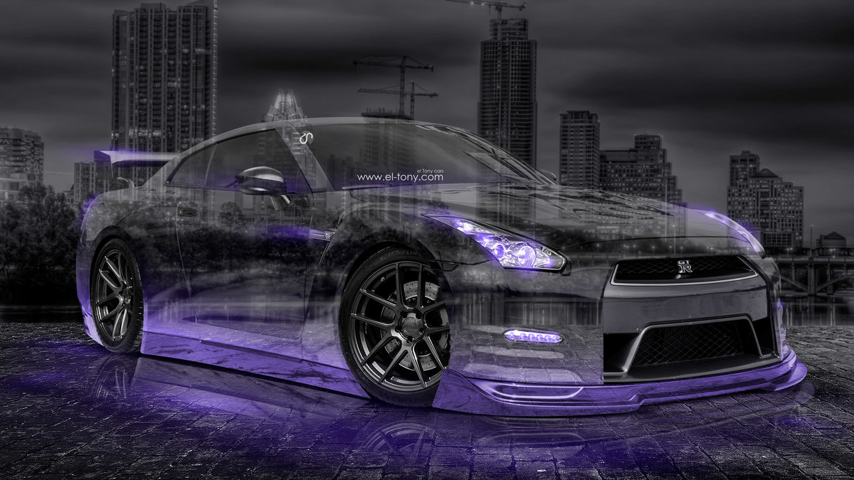 Nissan GTR R35 JDM 3D Crystal City Car