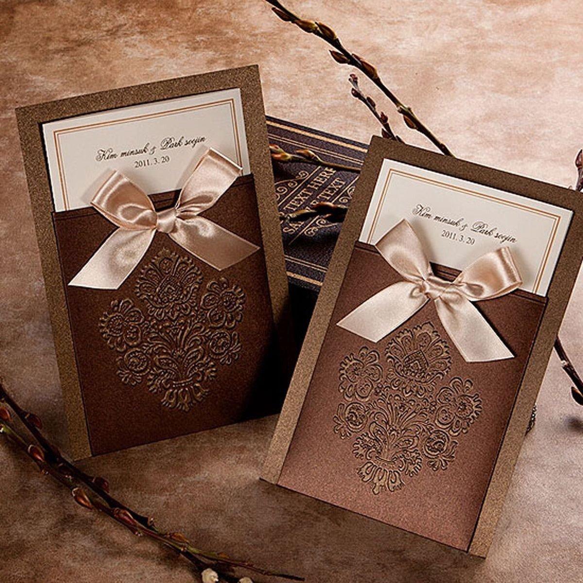 Шоколадные свадебные открытки, сделать
