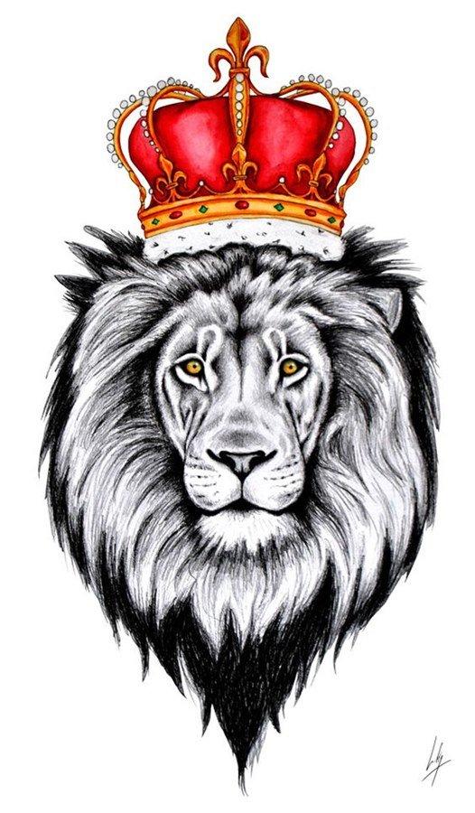 Картинка короны лев