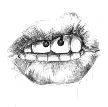 Губы рисованной эскиз, иллюстрация | Премиум векторы | 369x375