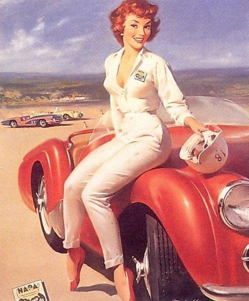 Женщина за рулем открытки, новый год прикольные