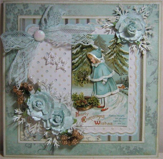 Скрапбукинг винтажные открытки с новым годом