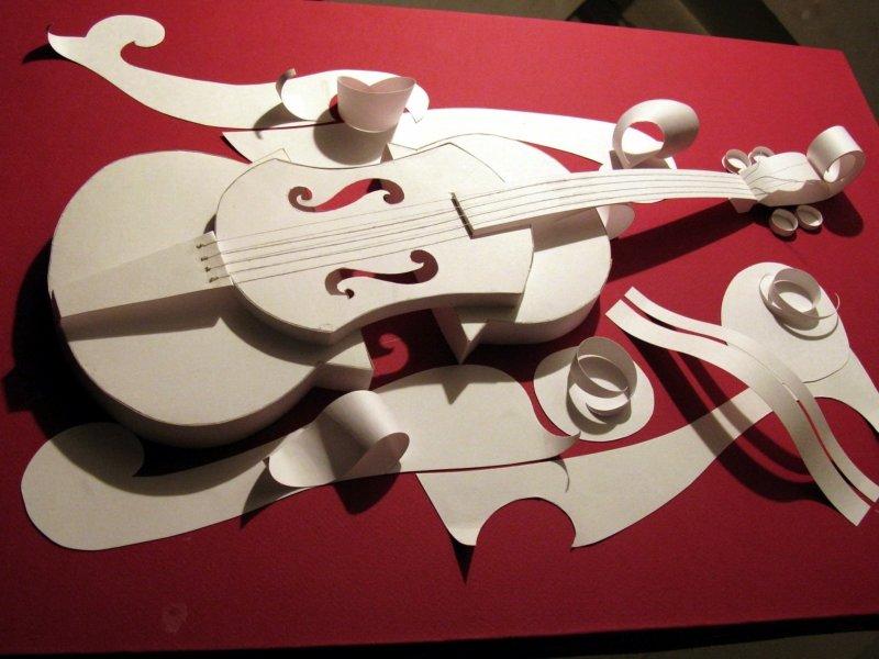Влюбленных, открытка скрипка своими руками