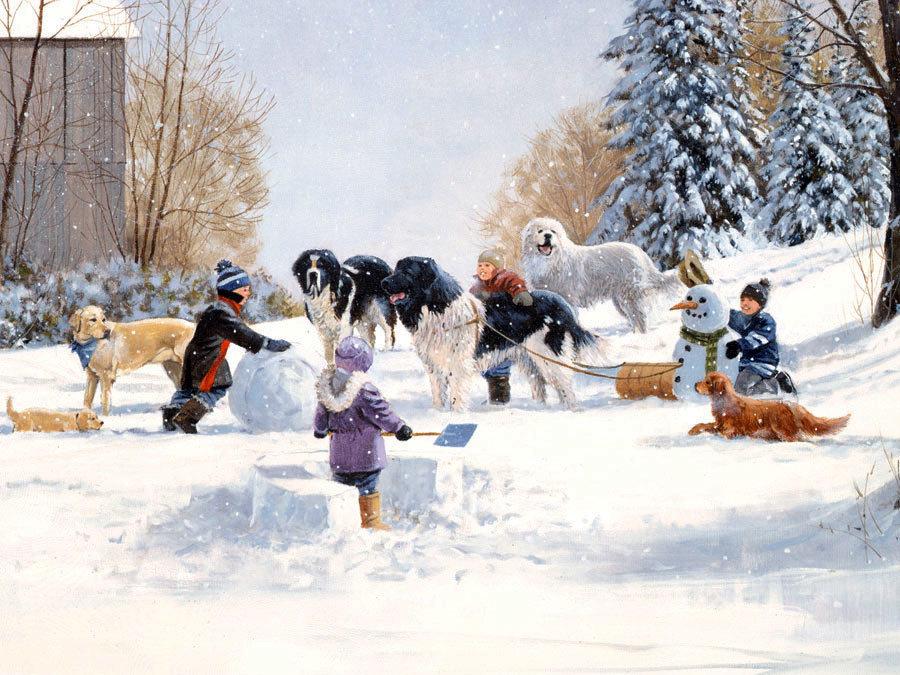 красивые картинки зимние забавы