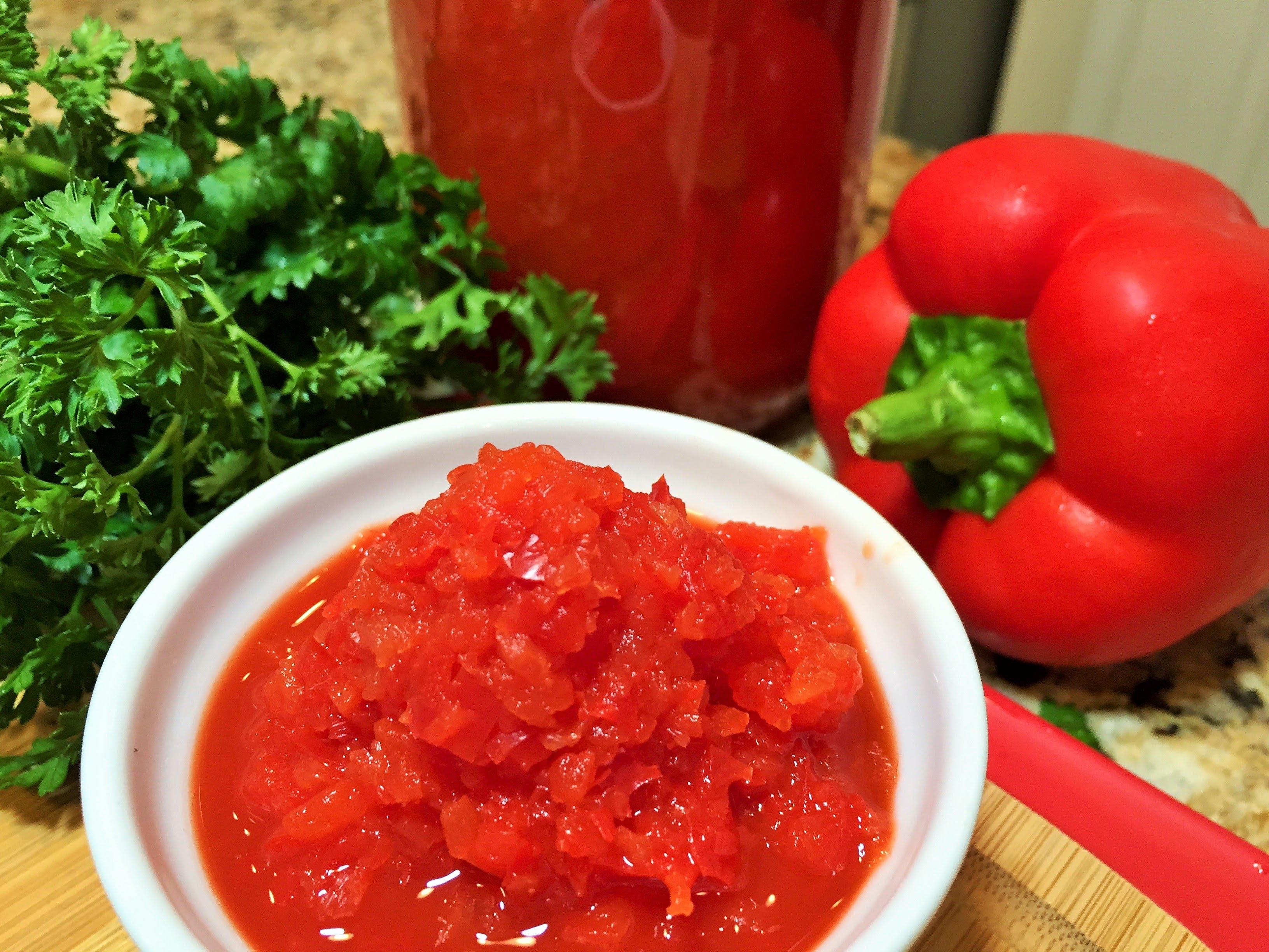 Соус из помидор с перцем болгарским 6
