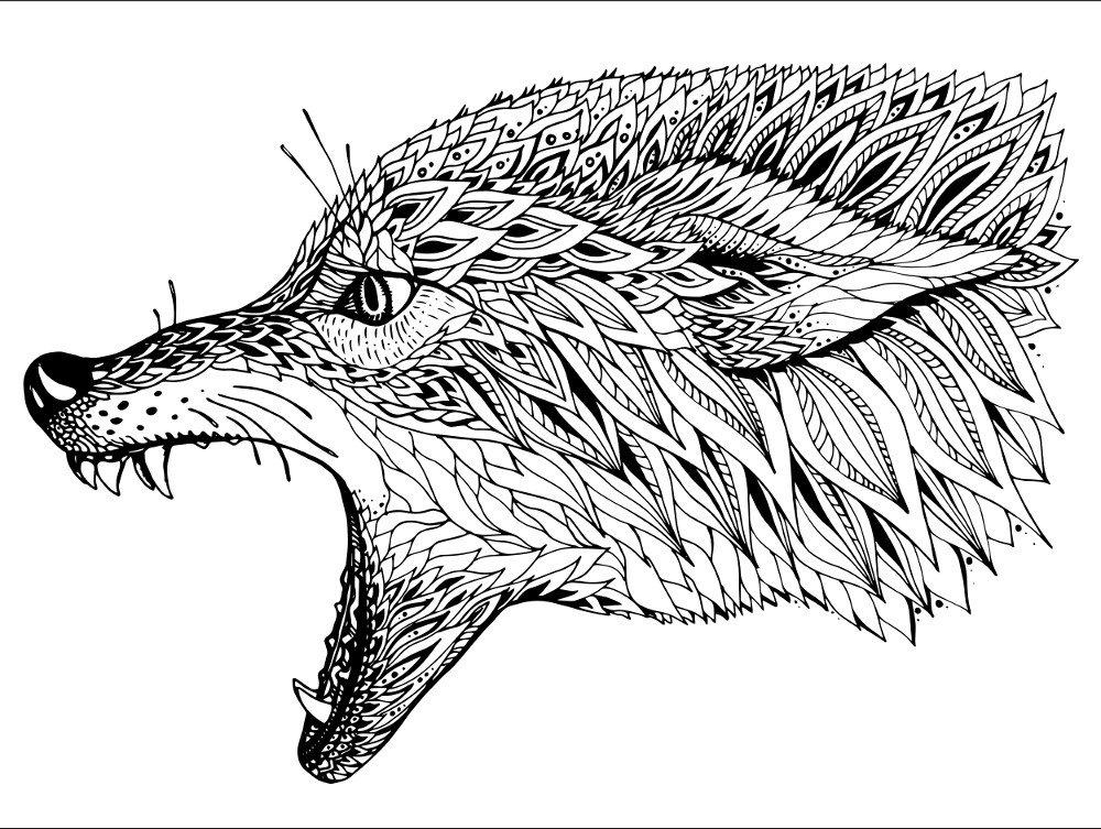 Картинки голова волка