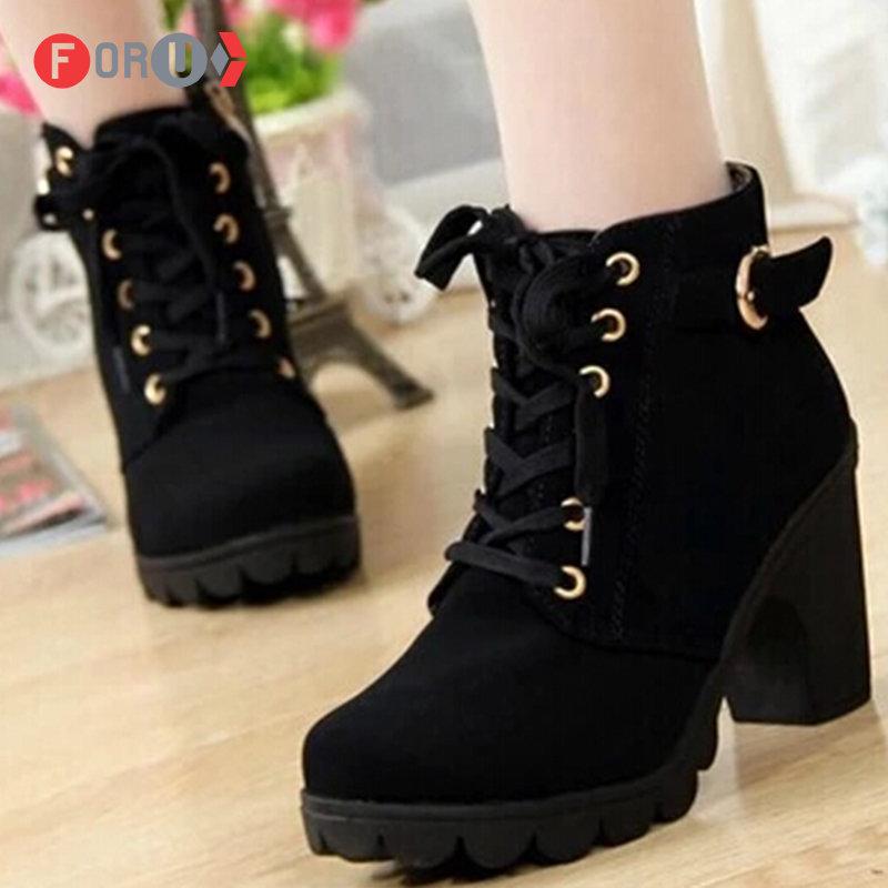 fb6645402 Женские зимние ботинки на каблуке милые и красивые» — карточка ...