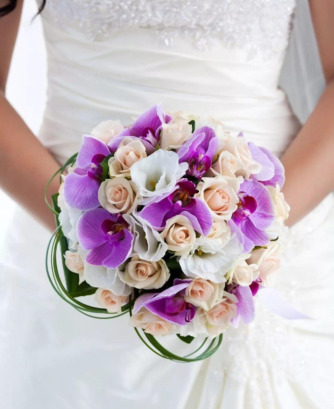 Магазин, свадебный букет из роз и орхидей купить спб