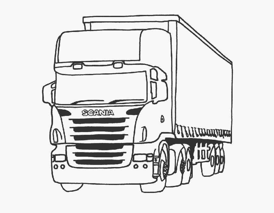 «Раскраска грузовик с прицепом Скания» — карточка ...