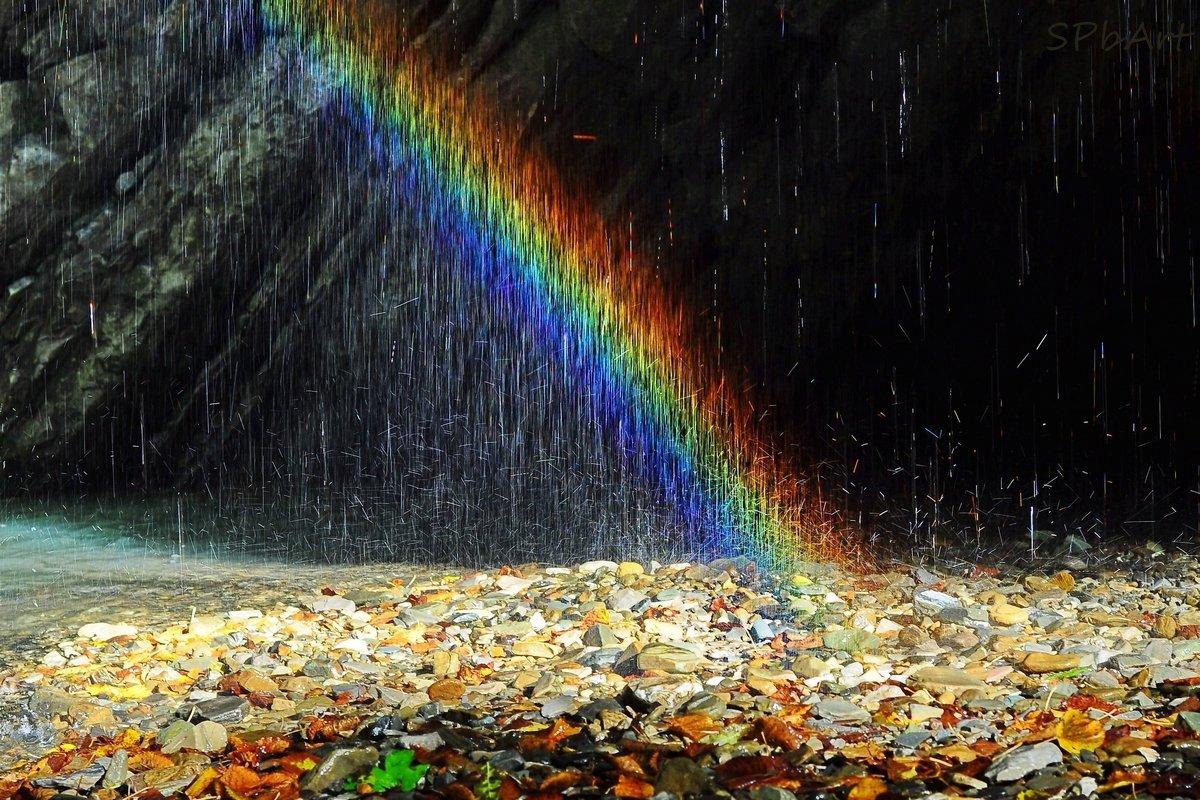 Дождь и радуга картинки