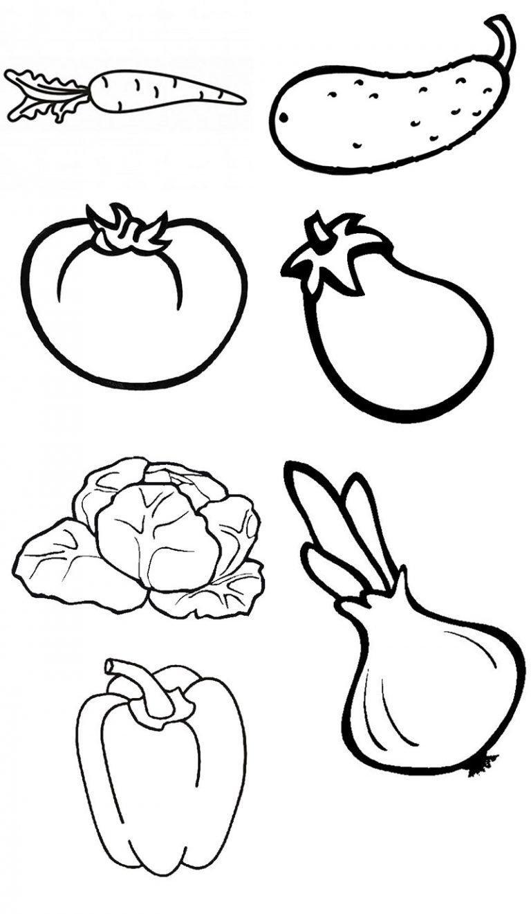 Рисунки овощей для раскрашивания верхних этажей