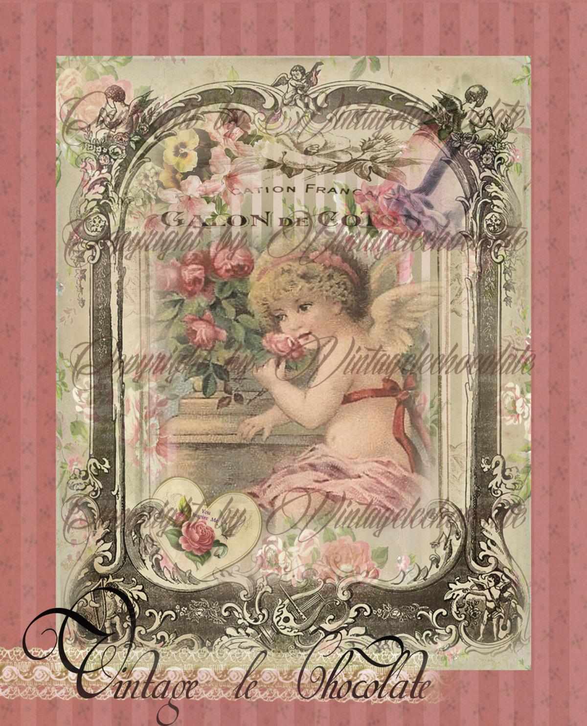 Картинки барышни шебби шик для открыток и декупажа, открытка