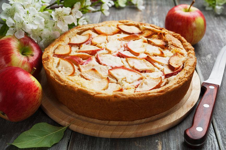 Цветаевский яблочный пирог с творожным тестом