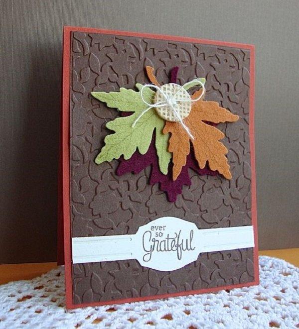 царствовании открытки с осенними листьями скрапбукинг помощью