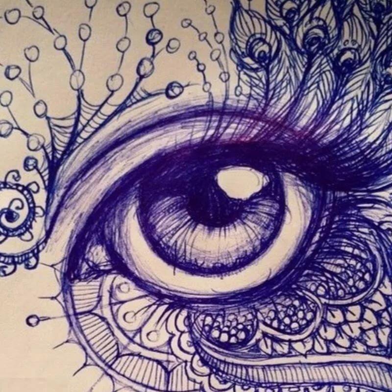 Любимой дочери, красивые и прикольные рисунки гелевой ручкой