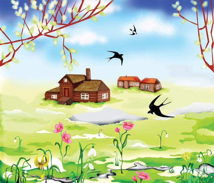 Смотреть детские картинки про весну