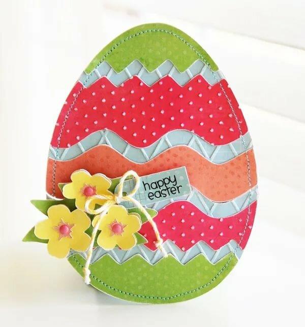 Как сделать пасхальное яйцо открытку