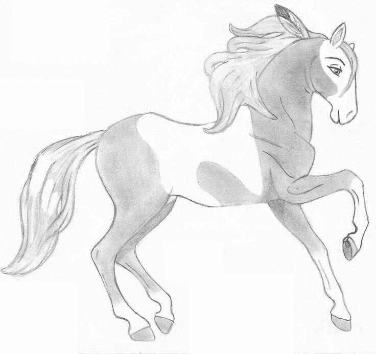 Картинки коней для срисовывания