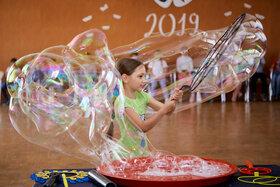 Шоу с мыльными пузырями для летнего лагеря. 2019