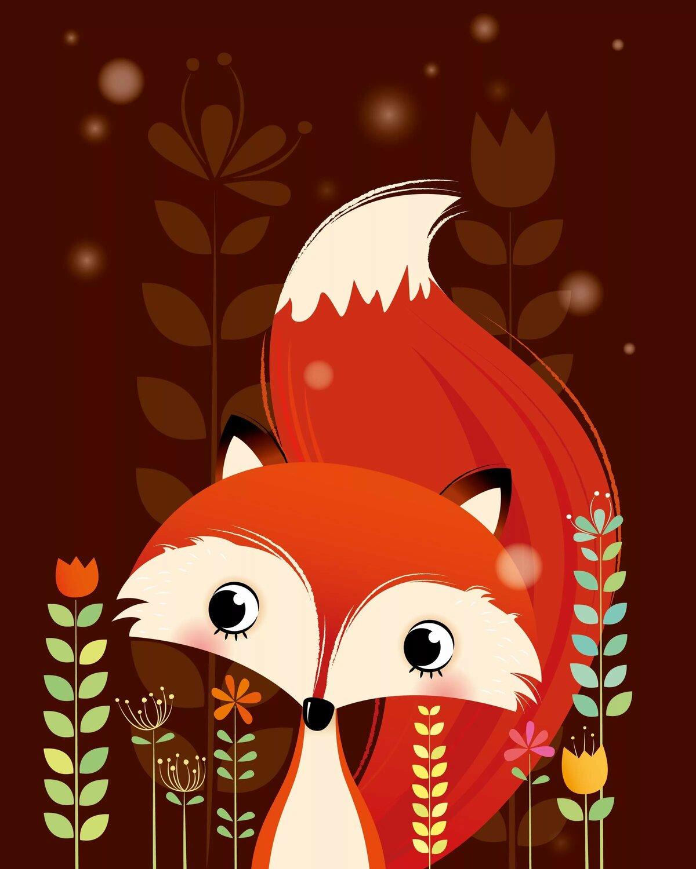 Прикольные мультяшные картинки лисы, картинки