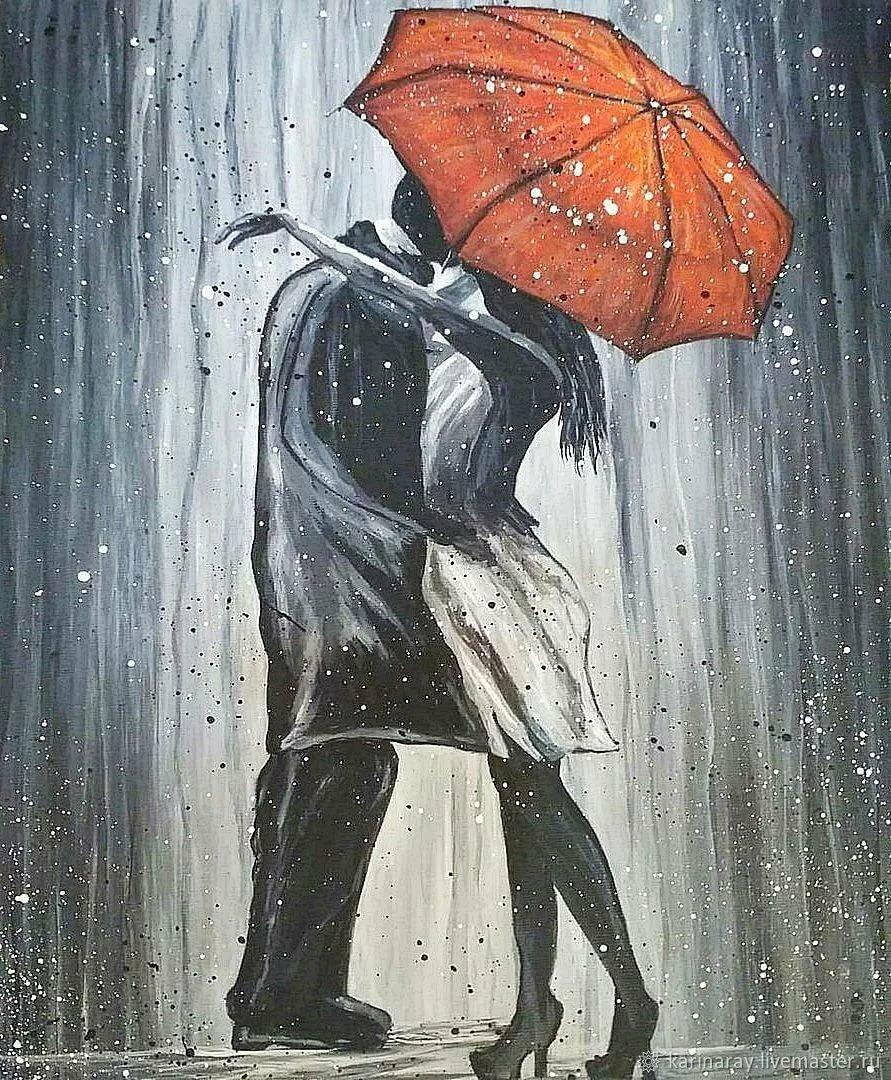 рисунки под дождем новый дом
