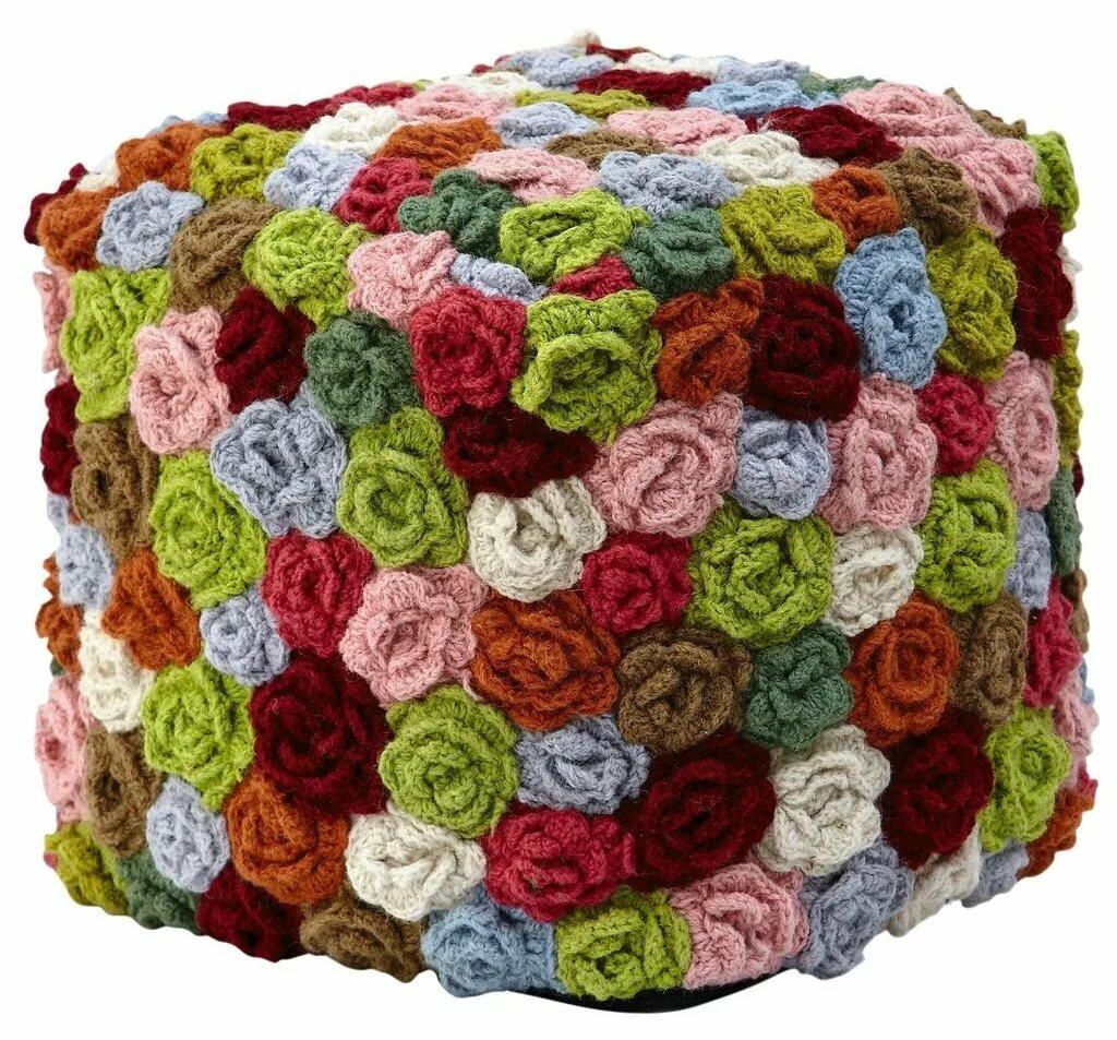 beautiful puff flower mat - HD1024×953