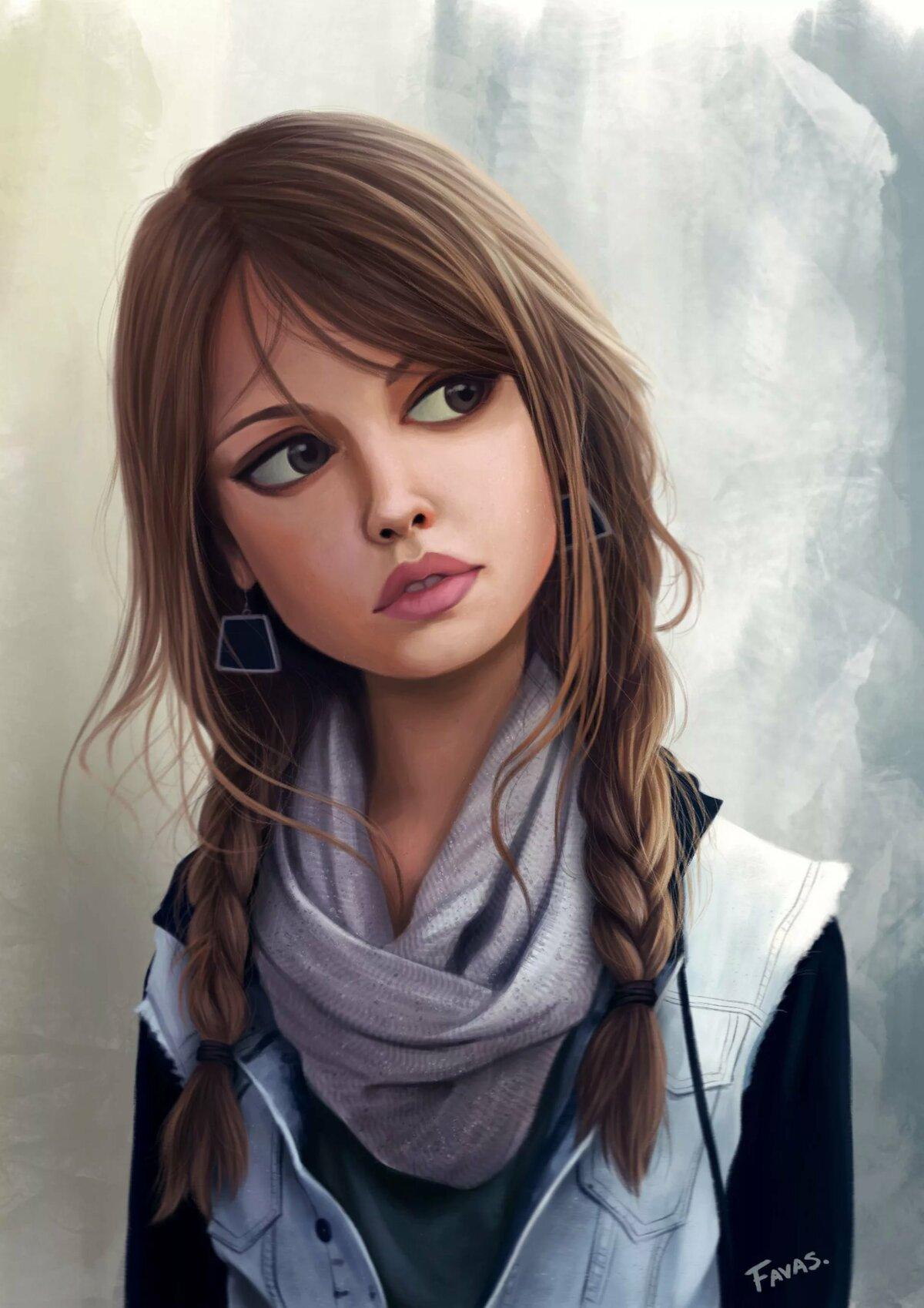Скрап, картинки картинки нарисованные девочки