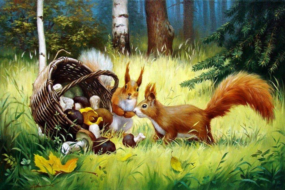 Картинки сказочных животных осенью