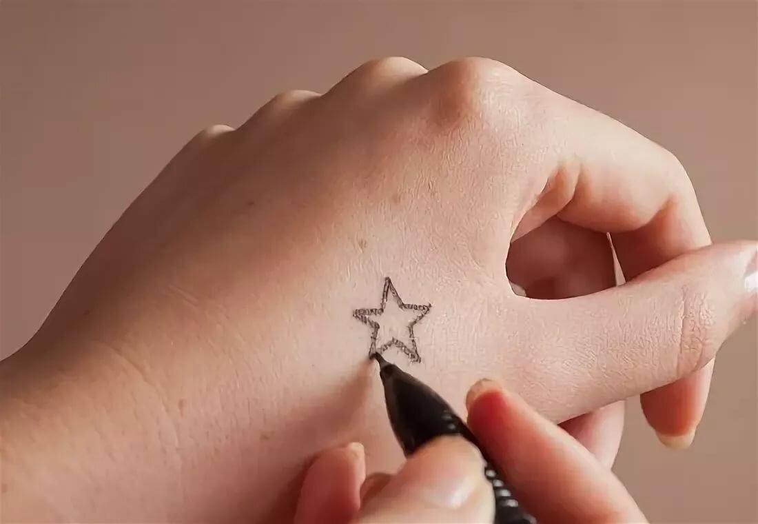 Самые легкие рисунки на руке ручкой, ленточек своими