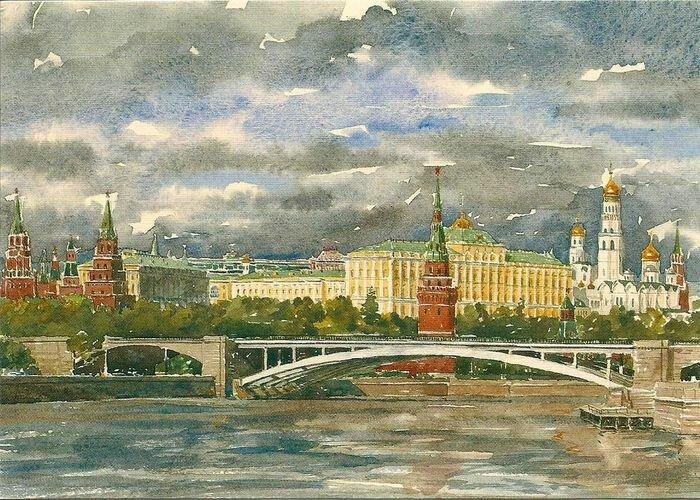 Ретро открытка кремля