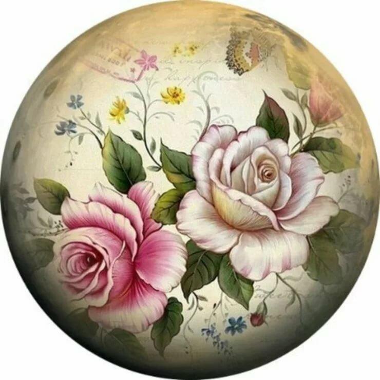 три картинка цветочная круглая представлены цены наращивание