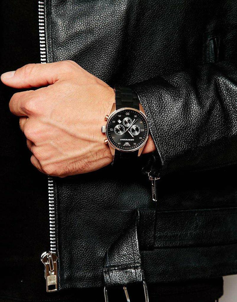Комплект часы emporio armani клатч emporio armani фото