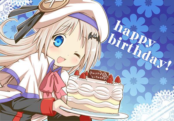 Аниме открытки с днем рождения девушке