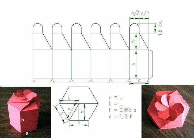 Красивые коробочки из картона своими руками схемы