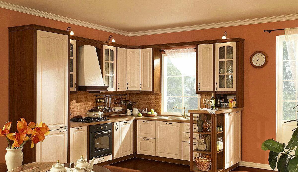 однотонными листьями угловые кухни в частном доме фото теще