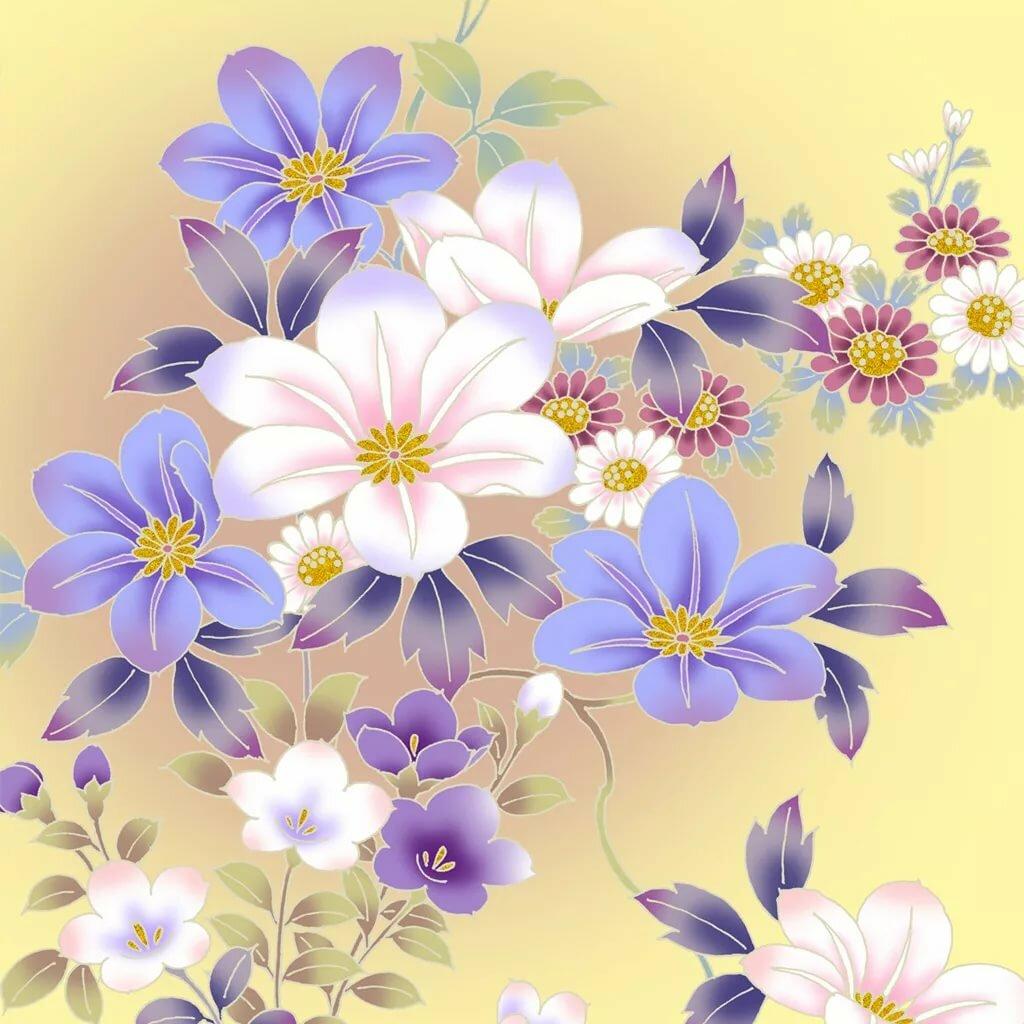 Цвета на открытках нарисованные, собачки