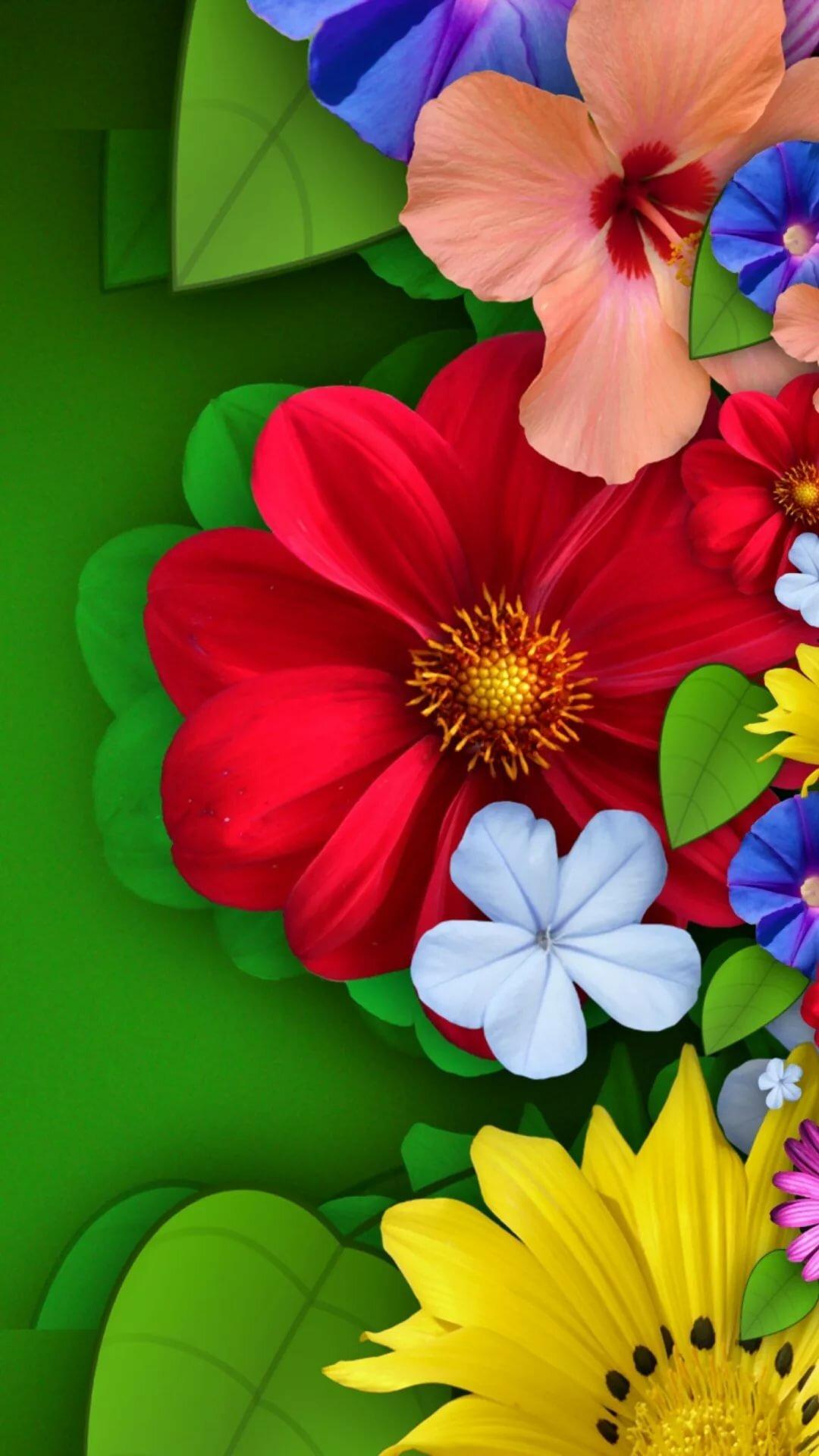 Яркие картинки на телефон цветы