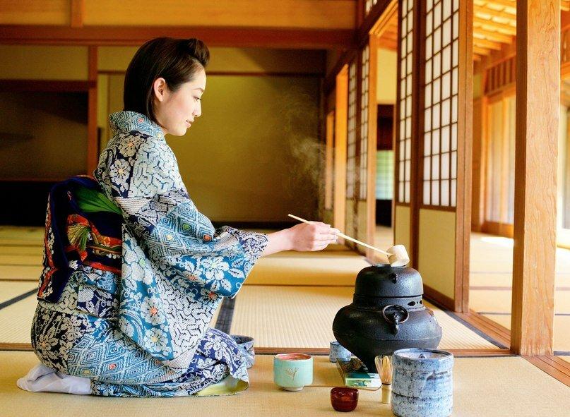 Картинка японского чаепития