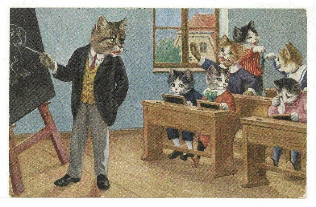 Картинка животные в школе