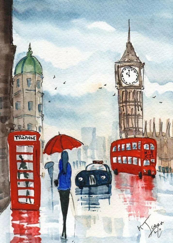 Рисунки картинки лондона