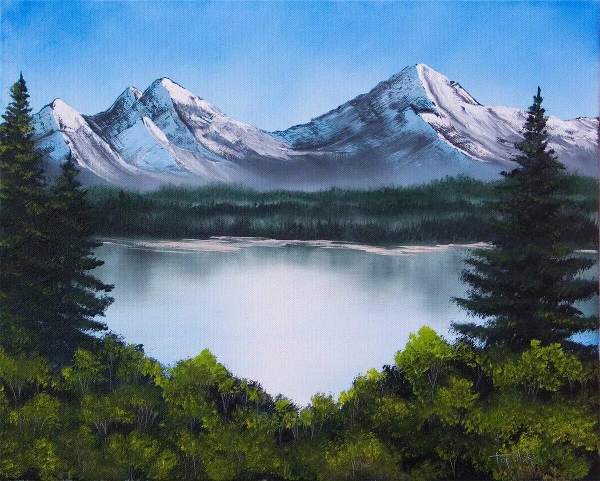 рисуем горы фото планировать