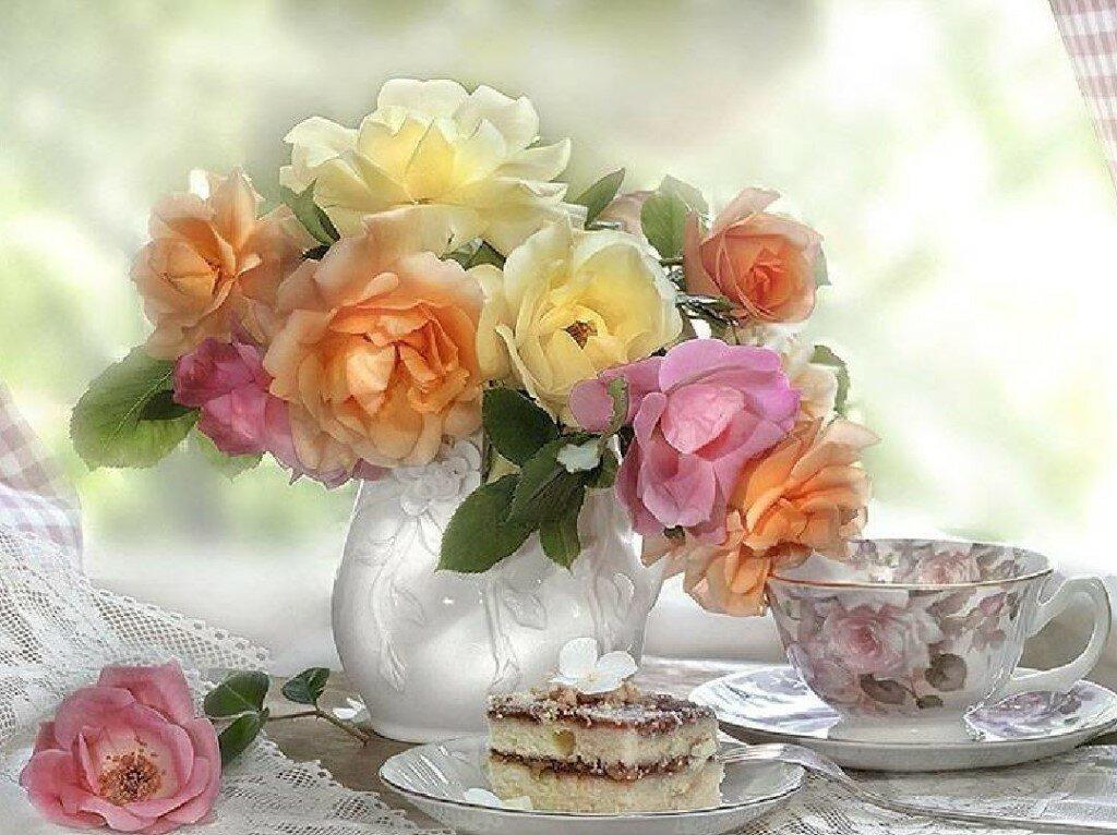 Открытки с нежными цветами с добрым утром, открытки бланк