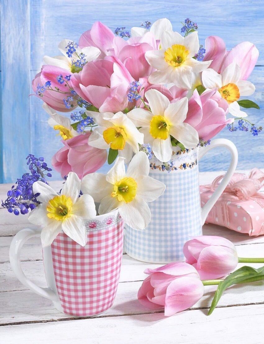 Открытки с добрым утром нежные красивые весенние с пожеланиями