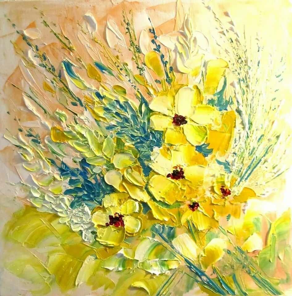 Рисунок в желтых тонах