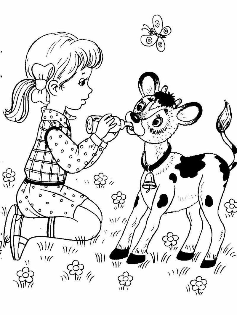 Добрые дела картинки для детей черно белые
