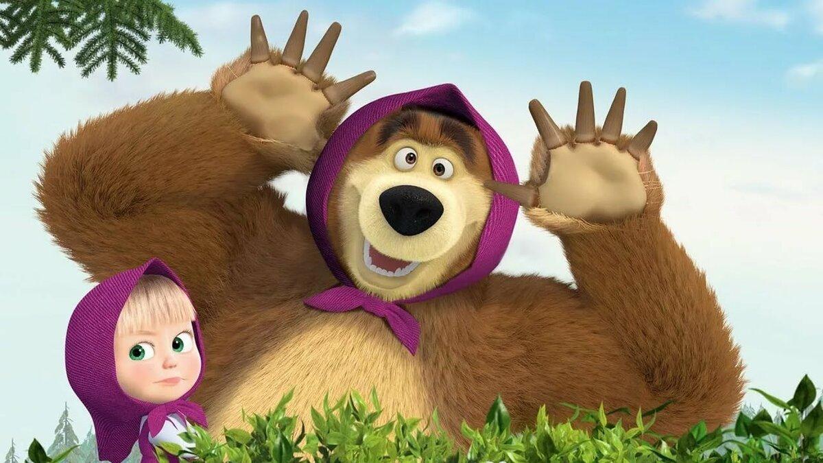 Детские картинки с машей и медведь