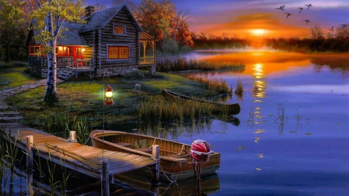 Для детей, открытки романтическая летняя ночь