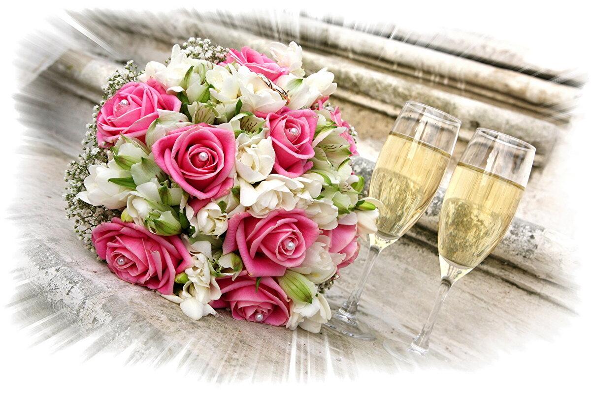 фото цветы с днем свадьбы судя всему, молодых