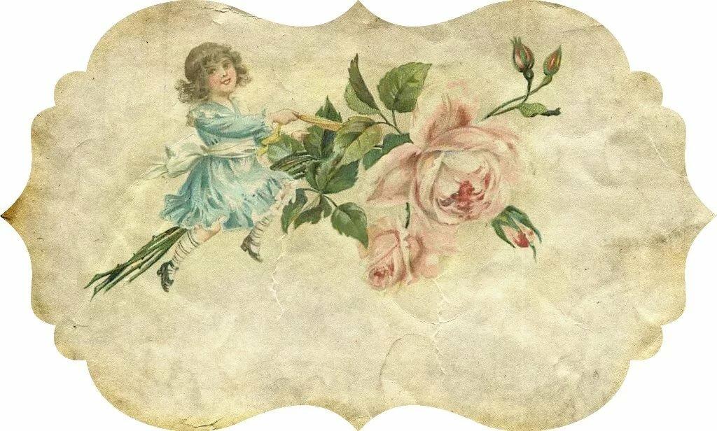 Днем рождения, старинные салфетки открытки