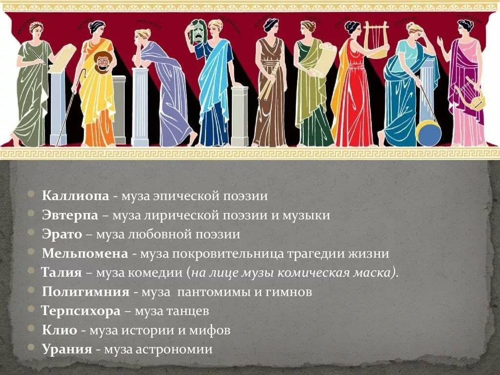 Музы древнегреческие в картинках